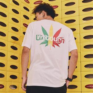 MRXXX Mỹ đường phố maple T-Shirt nam ngắn tay ulzzang những người yêu thích triều mùa hè thương hiệu sinh viên hoang dã từ bi