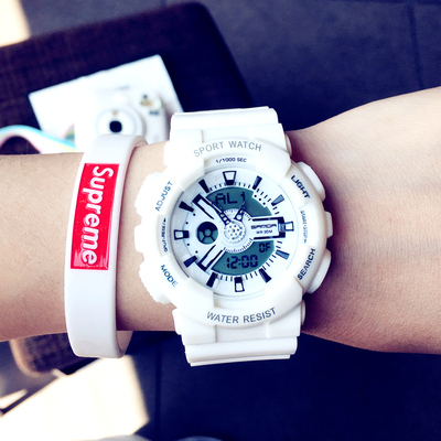 Fashion Trend Ulzzang Watch Men Women Korean Style Simple Leisure Electronic Sports Waterproof Watch