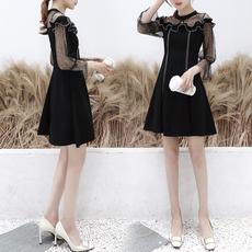 实拍性感心机裙子2019新款女装春装设计感很仙的法国小众连衣裙
