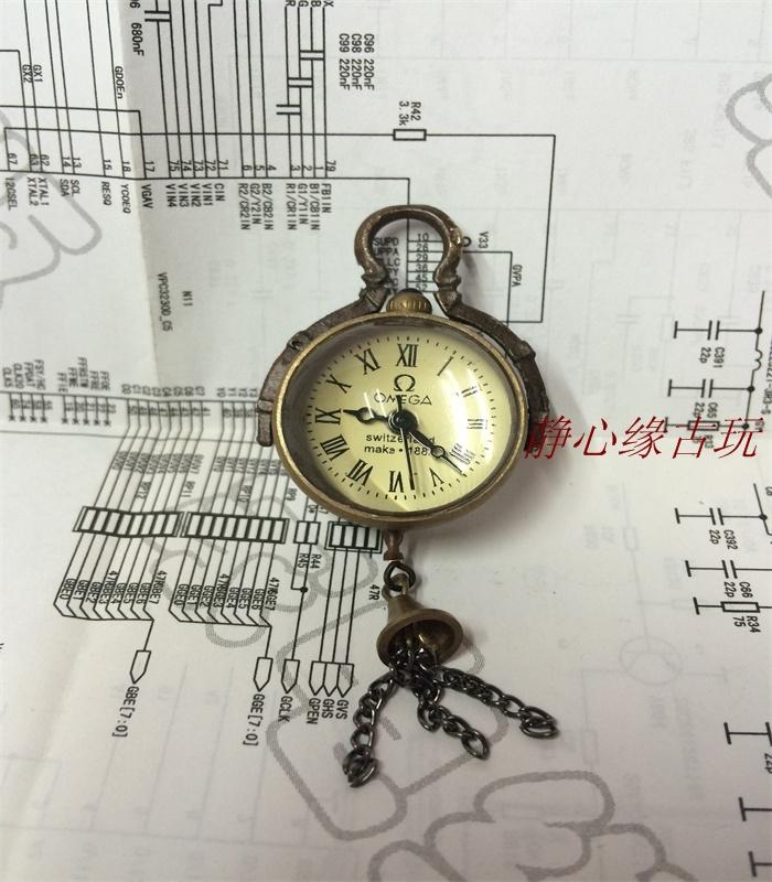 Antique Miscellaneous Retro Cộng Hòa Omega Cơ Pha Lê Nhỏ Pocket Watch Vòng Bảng Bóng Tinh Tế Trang Sức Mặt Dây Chuyền