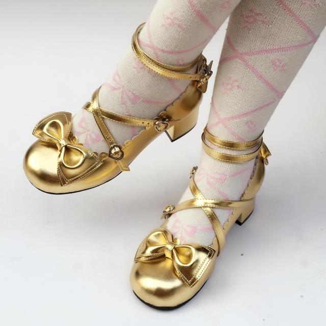 42agent Antaina Japanese lolita tea party shoes bow 9988 - Taobao
