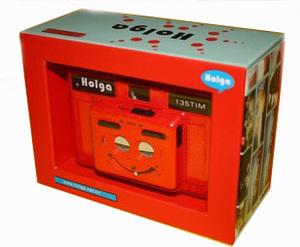 Retro LOMO máy ảnh HOLGA135TIM đỏ nửa lưới lưới đôi máy 135 phim máy ảnh món quà sáng tạo