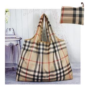 Siêu thị lớn nylon mua sắm không thấm nước túi gấp xách tay túi màu xanh lá cây vai túi đơn giản mommy hàng tạp hóa mua sắm túi