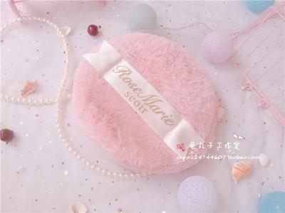 taobao agent Cute plush velvet puff bag, letter print all-match simple shoulder bag, soft cute women's small round bag messenger bag