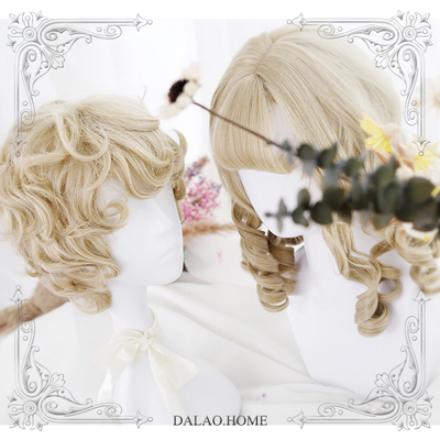 "42agent |大佬家| Soft sister Lolita ""Prince & Girl's 邂逅"" young master scroll Roman couple wig - Taobao"