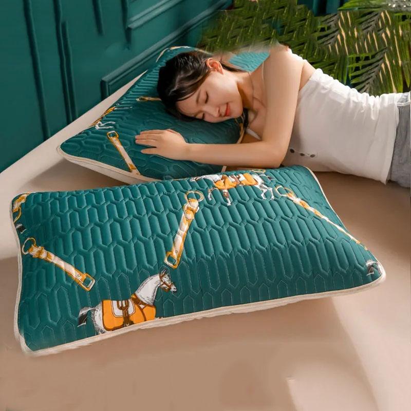 乳胶枕套一对装抗菌防螨高档枕头套