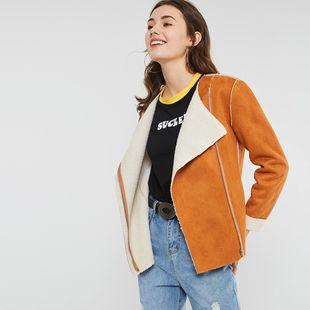 Пальто женщина корейский свободный студент куртка женский большой размер пальто пальто замша кожа мягкий благородный женщина ветровка женщина