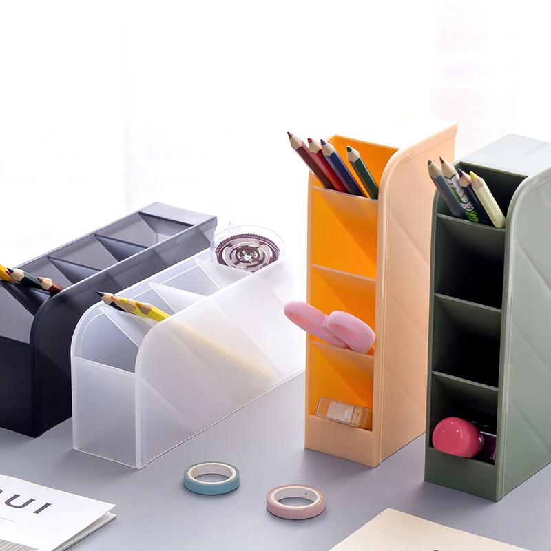 斜插式笔筒创意时尚多功能韩国女办公室笔架收纳盒小清新桌面摆件