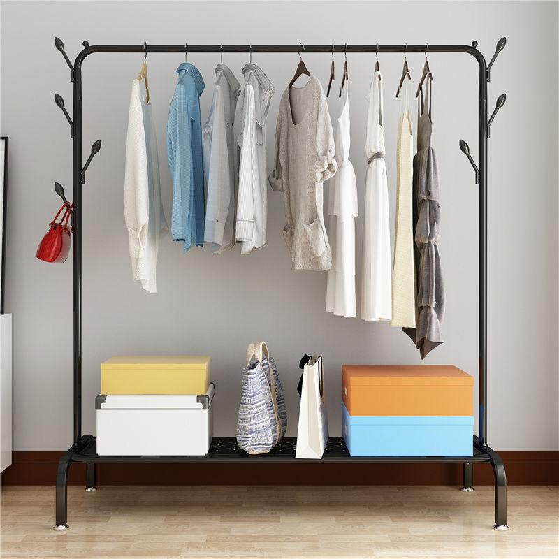 晾衣架落地伸缩不锈钢室内折叠双杆式卧室