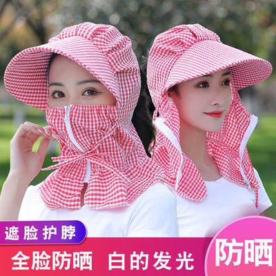 夏季新款防晒帽子干活采茶务农骑车遮脸遮阳防紫外线户外凉帽