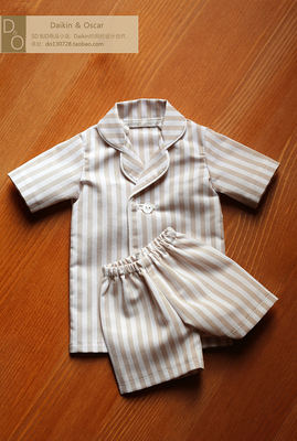 taobao agent DO spot bjd3 points men and women sd10 13 doll clothes dd pajamas top shorts short sleeve suit