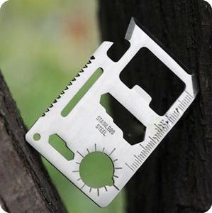 Cắm trại ngoài trời đa năng dao thẻ cuộc sống tiết kiệm ngoài trời đa công cụ công cụ đa mục đích công cụ công cụ cầm tay