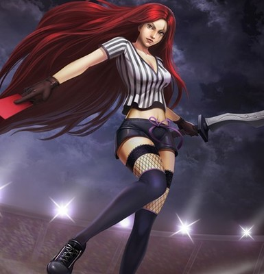 taobao agent LOL League of Legends Ominous Blade Catalina Red Card Exit Cosplay Costume Custom