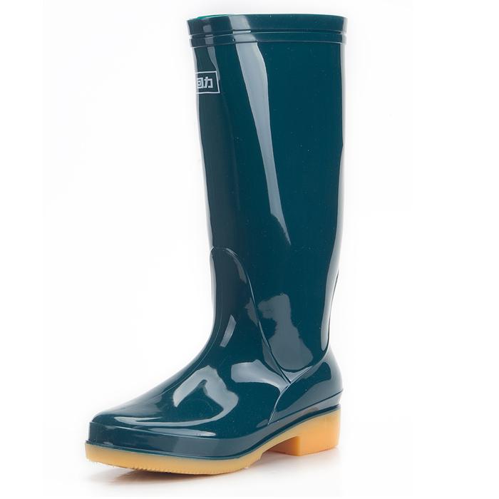 Genuine rắn phẳng lớp lót bên trong với gaotong nước nữ giày ủng đi mưa hay nắng giày 813 - Rainshoes