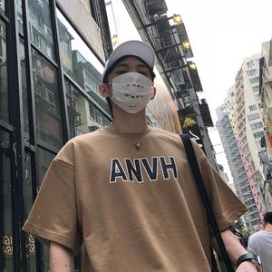 2018新款 字母印花男士短袖T恤宽松休闲男TEE T08-P45控58
