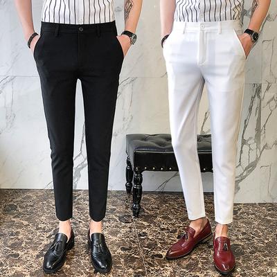 Xã hội tinh thần guy casual hoang dã chín quần của nam giới kinh doanh chuyên nghiệp England chân nhỏ quần quần cơ thể