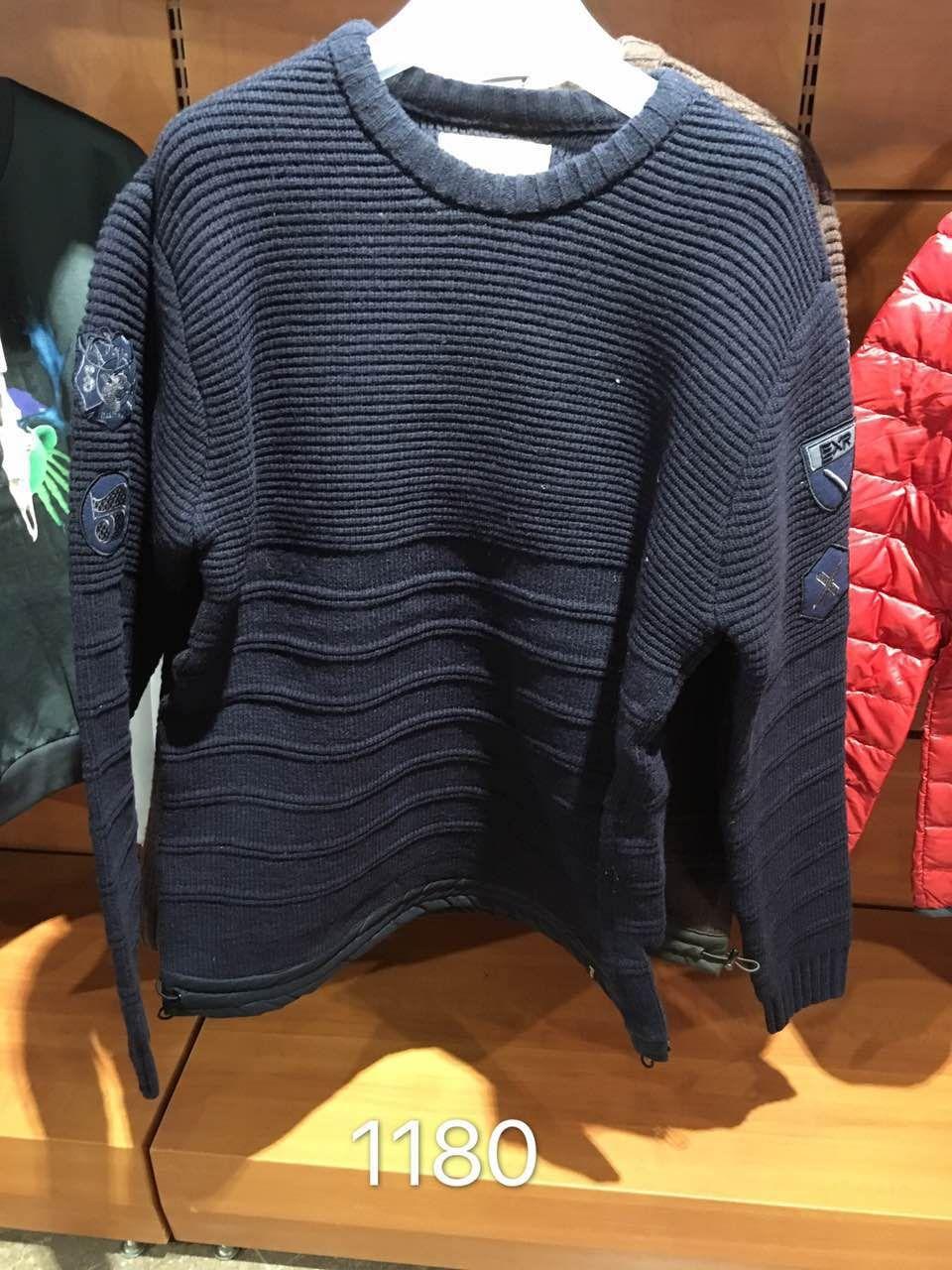 EXR quầy đàn ông đích thực của thể thao và giải trí rắn màu áo len áo len áo len áo len đích thực đảm bảo