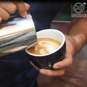 Thép không gỉ dày Ý Teflon kéo hoa cốc cốc cà phê tip miệng quy mô kéo hoa xi lanh sữa cup đồ dùng cà phê