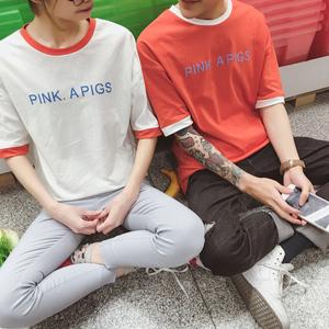 2016夏装  韩版纯棉情侣短袖打底t恤学生班服  特价10元