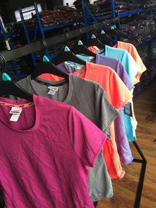 Châu Âu và Mỹ phụ nữ A * nhanh chóng làm khô thể thao và giải trí ngắn tay t-shirt nhiều màu