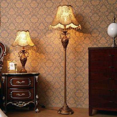 欧式落地灯客厅创意美式复古家用立式台灯简约