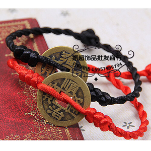Sự ra đời của gió quốc gia linh hồn ma quỷ vòng chân nữ sợi dây màu đỏ vòng chân nam vài đồng tiền bracelet chuyển phụ kiện đơn giản
