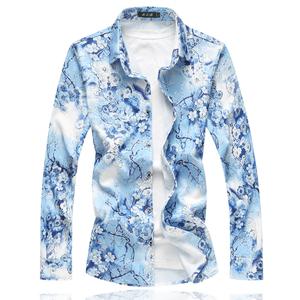 2018 花衬衫 多码 加大版 男士衬衫 9714F55 白底