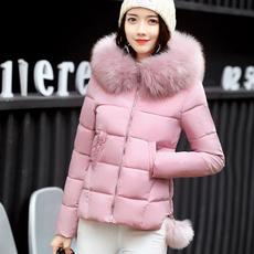 2017新款冬季外套大毛领棉衣女短款韩版修身学生加厚小棉袄