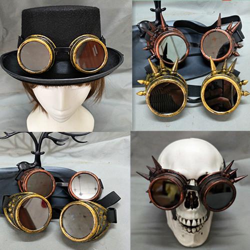 Steampunk kính sci-fi ống nhòm với gai kính cơ sở bão gothic đảng Cosplay đạo cụ