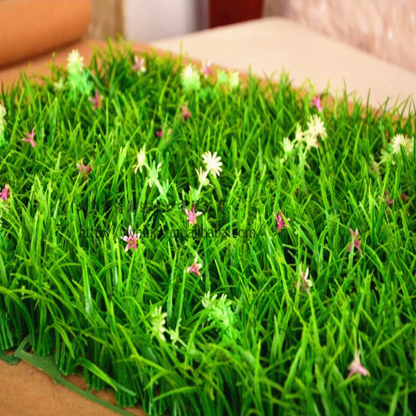 Cỏ nhân tạo với hoa trong nhà giả cỏ xanh cây cỏ cao mã hóa ban công trang trí sân cỏ mô phỏng cỏ - Hoa nhân tạo / Cây / Trái cây