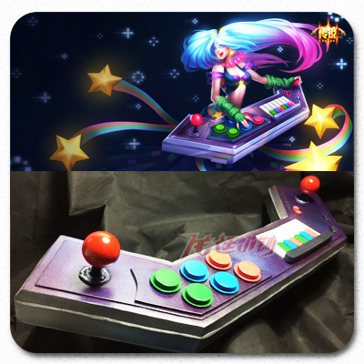 taobao agent 【Long Ting】LOL League of Legends cosplay props/qinse fairy video game skin/electronic organ