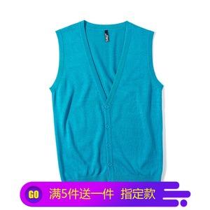 Hàn quốc phiên bản mới mùa xuân và mùa thu của nam giới thời trang V-Cổ tay đan vest nam vest hoang dã mùa thu và mùa đông áo len triều