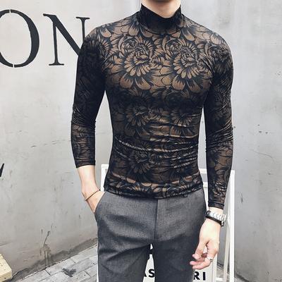 Ánh sáng trưởng thành của nam giới thời trang Slim mùa thu mới England quý ông Hàn Quốc giản dị đáy áo nửa cao cổ áo len