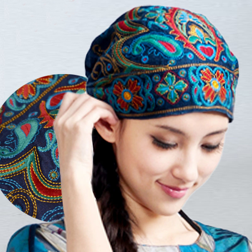 Read you, the new style of race breeze embroiders to spend a hat a lady original design hat female the trip hat turban tide female - intl