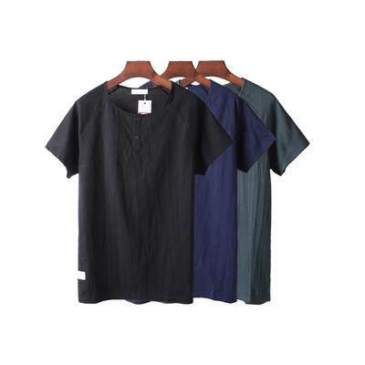 Net phiên bản của mùa hè T-Shirt nam lỏng ngắn tay xu hướng thanh niên hoang dã thường màu rắn áo t-shirt nam áo thun burberry Áo phông ngắn