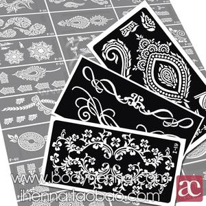 Henna tattoo template body painting phun bán vĩnh viễn tattoo Hannah template sticker lớn 150