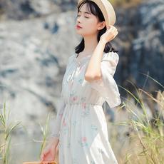 6206#定价不低于95视频大图都有【3月29出货】甜美印花连衣裙