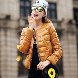 反季2016新款冬装特价女款超轻薄羽绒服短款外套大码修身