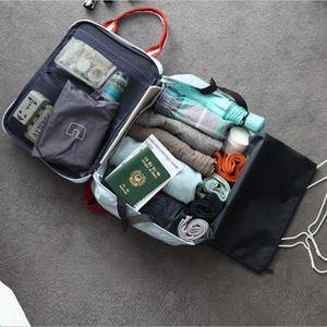 Du lịch túi Messenger đa chức năng vai túi người đàn ông và phụ nữ túi hành lý xách tay công suất lớn không thấm nước tay áo túi xe đẩy