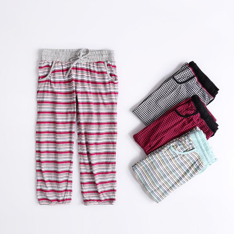 Mùa hè phụ nữ đan bông bảy điểm nhà quần lỏng thường bông quần ngủ