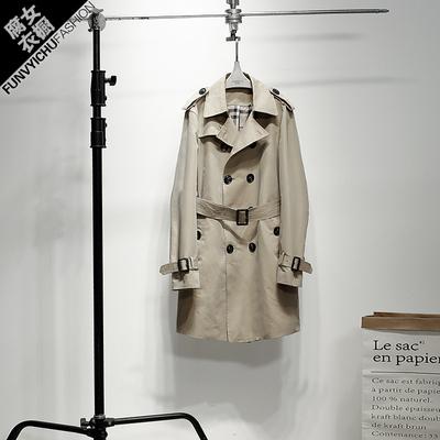 Khi có những cái cây ở phía nam, Chen Weiwei, chiếc áo gió mỏng của đàn ông cùng chiếc, áo gió đôi ngực, phần dài nam, mới Áo gió
