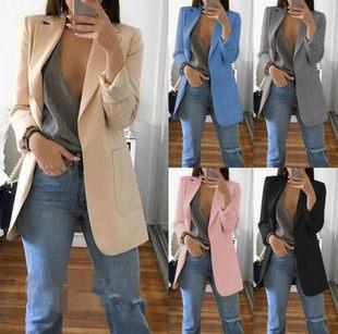 YCDXUR Lapel Slim Cardigan Blazer отворот кардиган темперамент костюм пальто