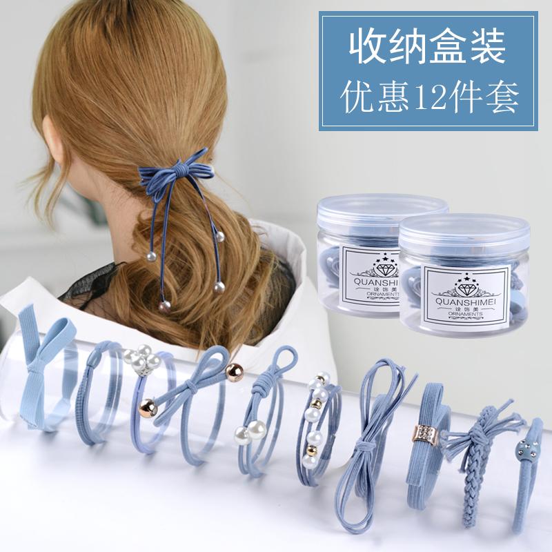 2018 mới ban nhạc cao su tóc dây Hàn Quốc nhỏ tươi Sen nữ headgear đầu da rope tóc vòng tạp dề đơn giản phụ kiện tóc