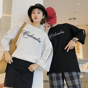 (女装)2018情侣装夏装新款五分袖宽松T恤衫 A358-1109-p45