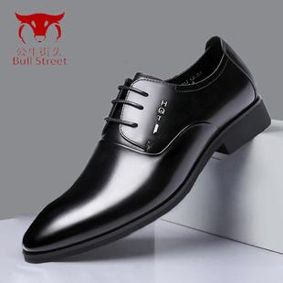 公牛街头皮鞋男商务正装皮鞋英伦时尚皮鞋