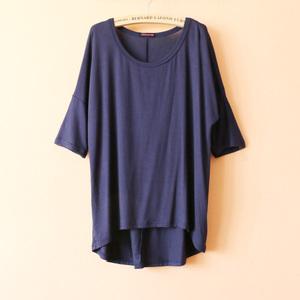 Đồ ngủ nữ mùa hè bat tay áo ngắn tay áo phương thức bất thường t-shirt lỏng mỏng tay áo dịch vụ nhà
