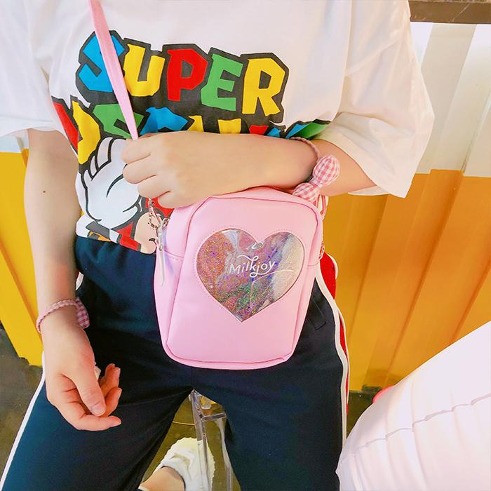 拉面丸子夏季新款透明日系学生女包拉链小方包小包单肩斜挎包