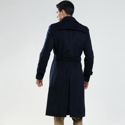 Mùa xuân và mùa thu và mùa đông người đàn ông mới của chiếc áo khoác len siêu dài mỏng áo đôi ngực thủy triều nam người Anh áo gió xl Áo len