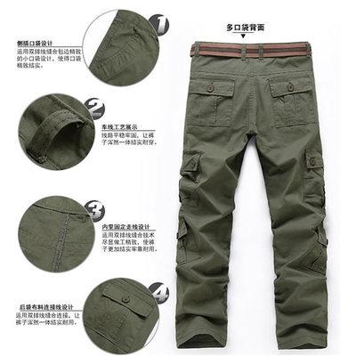 Nhung bắc cực mùa hè mỏng overalls nam đa túi lỏng ngoài trời thể thao giản dị quần mặc quần làm việc người đàn ông Quần làm việc