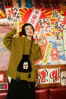 杨二大梦 原创自制年新款 复古浮世绘刺绣流苏小包女